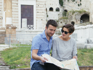 tourists map italy