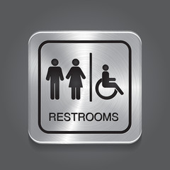 Restrooms Sign.