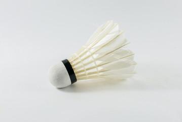 white shuttlecocks, Badminton