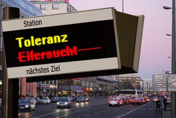 Anzeigetafel 5 - Toleranz