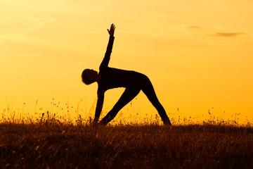 Yoga-Virabhadrasana /Rotated warrior pose