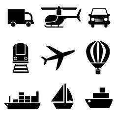 Набор векторных иконок транспорт