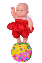 Dancing doll in red dress