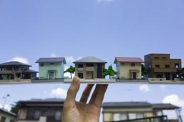 アパートメントと空