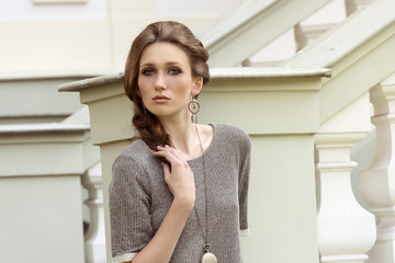 fashion girl in outdoor location