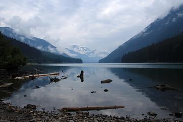 Duffey Lake on a cloudy day, British Columbia, Canada