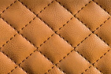 Quilted leather close up