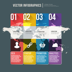 Vector abstract infographic flat design