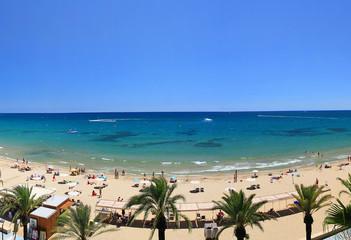 Beautiful beach view from balcony