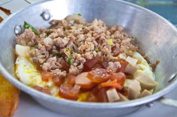 Thail breakfast, Egg pan