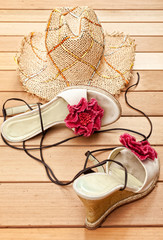 Sunhat and Sandals