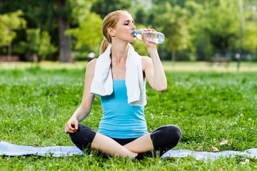 Refreshment after exercise