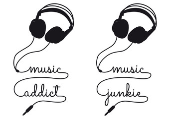 music addict, vector headphone