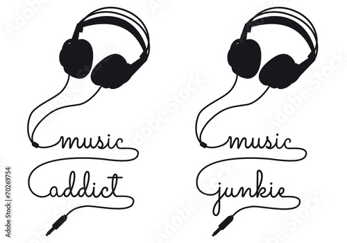 music addict, vector headphone © beaubelle