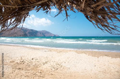 Schöne Aussicht auf Strand in Kreta © ajlatan