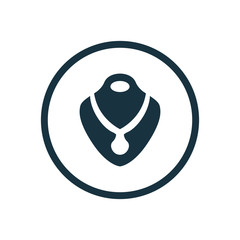 necklace circle background icon.