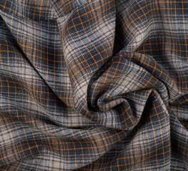 Wrinkled squared cloth fabric