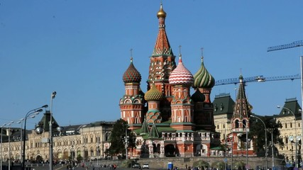 Moscow, Red Square, Kremlin and St. Basil Cathedral