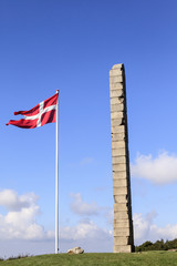 Dänemark - Monument in Skamlingsbanken in Jütland