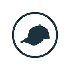 cap circle background icon.