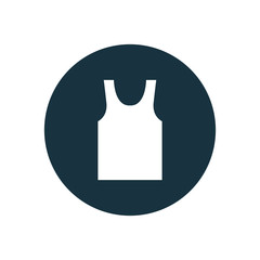 tank top circle background icon.