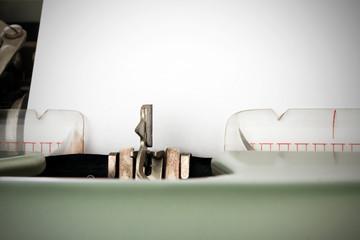 Schreibmaschinenkopf im Detail