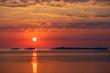 Leinwanddruck Bild - Paintbrush Sunset Sky