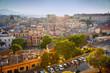 canvas print picture - Panorama view of Cagliari, Sardinia, Italy, Europe