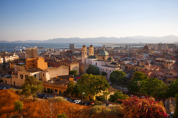 Panorama view of Cagliari, Sardinia, Italy, Europe