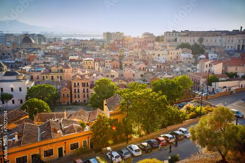 canvas print picture Panorama view of Cagliari, Sardinia, Italy, Europe