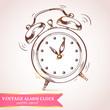 Old retro alarm clock card - 70272580