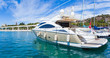 Luxury yacht at the port - 70273194