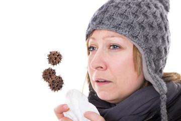 Konzept Erkältungsgefahr