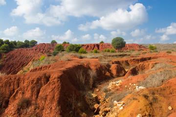 Bauxite mine view