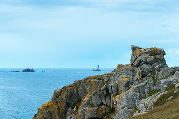 Lighthouses at Pointe du Raz (France)