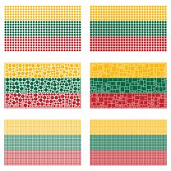 Mosaic Lithuania flag set