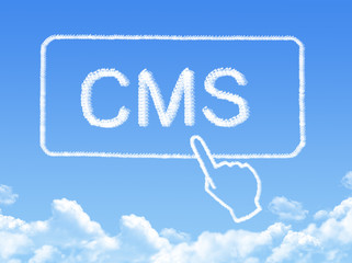 content management system message cloud shape