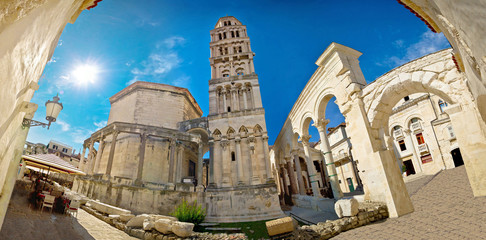 Ancien old Roman square in Split