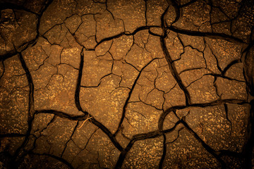 Abstract background with cracked earth