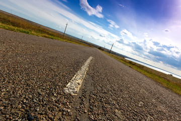 Free asphalt road