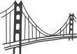 illustration of Golden Gate bridge, San Francisco - 70276901