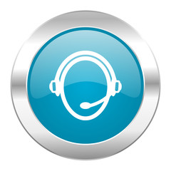 customer service internet blue icon