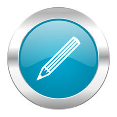 pencil internet blue icon
