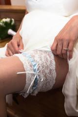 Bride garter detail