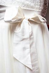 Wedding dress ribbon