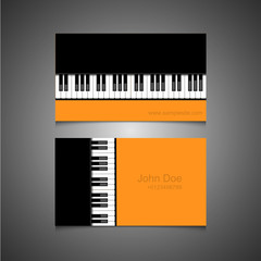Vector modern piano banners on gray background.