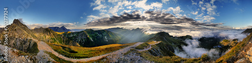 Piękna panorama Świnicy