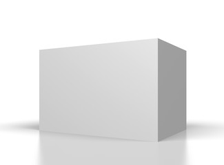 big blank white box