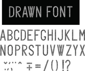 drawn font, all letters of the alphabet in hand drawn style