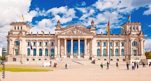 Spoed canvasdoek 2cm dik Berlijn Deutscher Bundestag im Berliner Reichstag